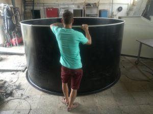 Акция июля! <br>Черный пластиковый бассейн Ø2,8м x 1,5м, толщина 5 мм - 35000 рублей