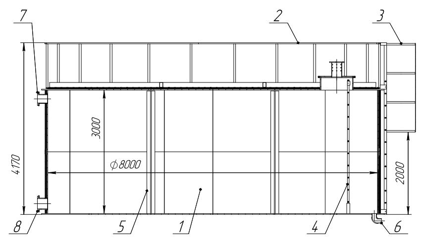 Схема емкости 150 м³