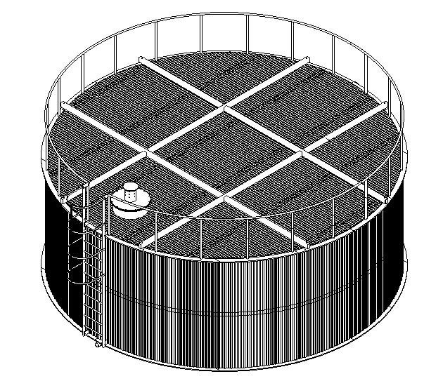 Эскиз емкости на 150 м3 Ø8000 Н 3000